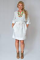 Платье льняное большого размера 50-60 разные цвета