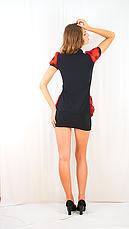 Платье черное с красным шифоновим жабо, фото 2