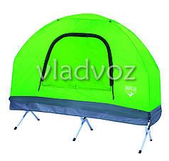 Палатка раскладушка одноместная с тентом и чехлом