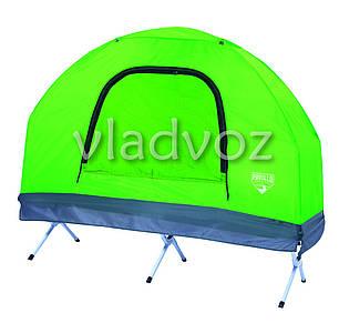 Палатка раскладушка одноместная с тентом и чехлом, фото 2