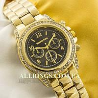 Кварцевые женские наручные часы Michael Kors gold black