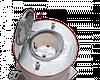 Розеточный модуль в пол на 2 модуля, Legrand, круглый, нержавеющая сталь IP44