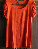 Ярко - оранжевая футболка amisu, фото 1