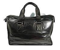 Кожаная дорожная, спортивная сумка Bally черная, 44*30*20 см