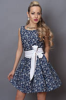 Красивое приталенное летнее платье с цветочным принтом  44,46,48