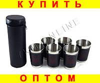 Набор стаканов рюмок в чехле L117 6 шт герб Украины