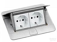 54011 Legrand Выдвижной розеточный блок в стол или пол 4-модульный, цвет алюминий