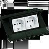 54026 Legrand Висувний розетковий блок в стіл або підлогу 4-модульний, колір чорний