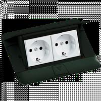 54026 Legrand Выдвижной розеточный блок в стол или пол 4-модульный, цвет черный