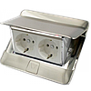 54021 Legrand Выдвижной розеточный блок в стол или пол 4-модульный, цвет нержавеющая сталь