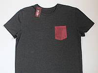Мужская футболка с карманом, разные цвета