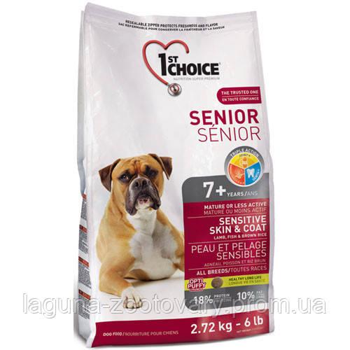 1st Choice (Фест Чойс) с ягненком и океанической рыбой 12кг супер премиум корм для пожилых собак