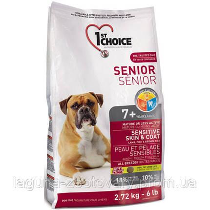 1st Choice (Фест Чойс) с ягненком и океанической рыбой 12кг супер премиум корм для пожилых собак, фото 2