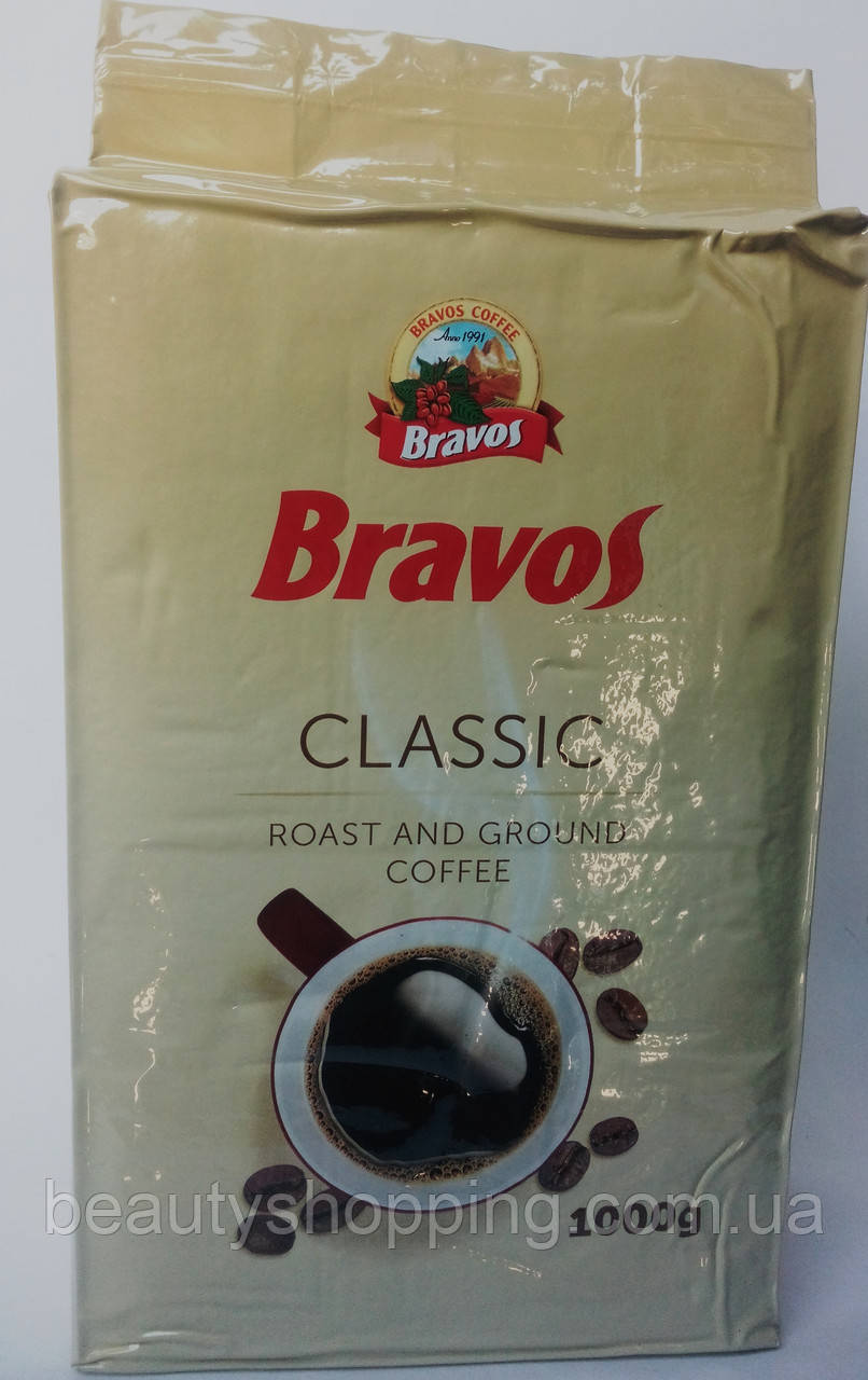 Bravos Classic кофе молотый 1 кг