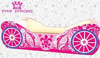 Кровать машинка Карета розовая