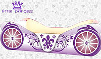 Кровать девочки Карета фиолетовая