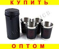 Набор стаканов рюмок в чехле e14 4шт герб Украины