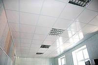 Плита потолочная белая матовая 600 х 600 х 8мм Пластик