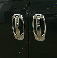 Хром накладки на ручки Fiat Doblo (Фиат добло) (2010 -  ), 8 шт Нерж.