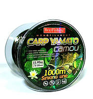 Леска Bratfishing Carp Yamato Camou 1000 м