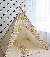 """Детская палатка-вигвам + коврик """"Бананы"""""""