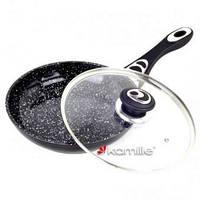 Сковорода со стеклянной крышкой Kamille KM 4255 28*5,5см.
