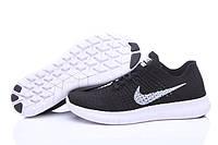 Nike Free Run Flyknit Black / White Sole