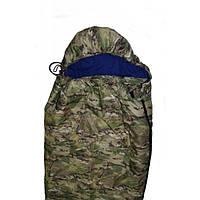 """Спальный мешок-одеяло """"студент"""" камуфляж, с капюшоном, 1950*750"""