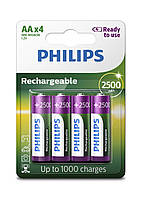 Аккумулятор PHILIPS Rechargeable AA/R6 2500mAh Ready to Use