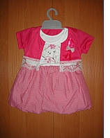 Нарядное детское платье 74-80р