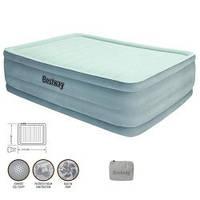 Bestway Надувная велюр-кровать 67536 - 203х152х56см с встроенным насосом