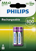 Аккумулятор PHILIPS Rechargeable AAA/R03 800mAh