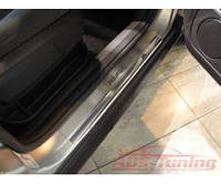 Накладки на пороги Ford Kuga (форд куга) 2008-2012. логотип гравировкой, нерж.