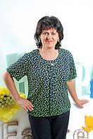 Блуза больших размеров с цветочным принтом