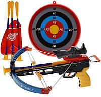 Игрушечный арбалет King Sport 35881K, 4 стрелы-присоски, лазерный прицел, мишень, для школьного возраста