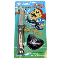 Набор пирата (усы,наглазник и ножик)