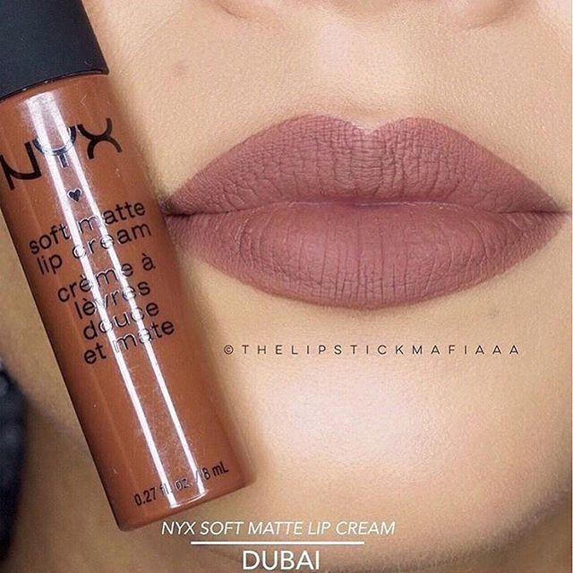 Матовая помада NYX Soft Matte цвет Dubai