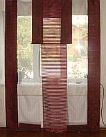 Комплект панельных шторок Арда бордо, фото 1