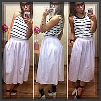 Стильная женская летняя юбка-миди 0121