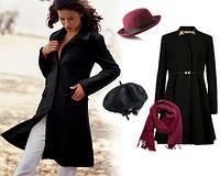 С чем можно сочетать женское  пальто тёмных тонов?