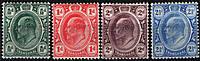 Филателия Трансвааль Transvaal 1905 год MLH, F/VF SC# 281 - 284, фото 1