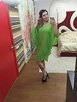Платье-туника мини шифоновое свободное 3245 Норма! (НАТ)