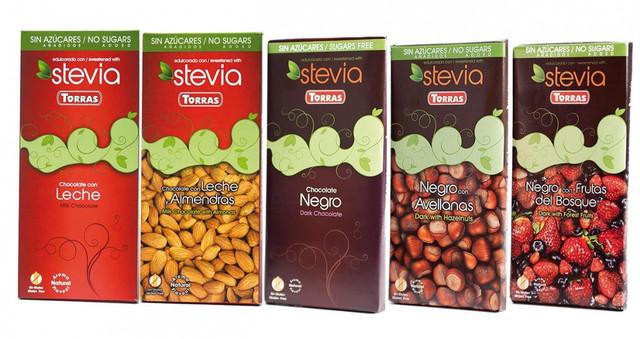 Шоколад диетический без сахара Torras Stevia с натуральным подсластителем купить в Киеве, Одессе, Днепропетровске по лучшей цене