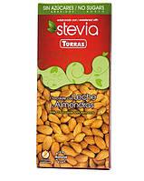 Шоколад молочный Torras Stevia Leche Almendras, без сахара 125 г, фото 1