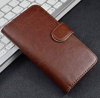 Чехол книжка для Nokia N8 коричневый