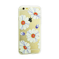 Чехол Lucent Diamond Case for iPhone 5 Daisy (Blue)