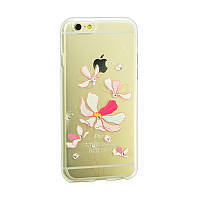 Чехол Lucent Diamond Case for iPhone 5 Tulips (Red)