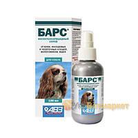 Барс инсектоакарицидный спрей от блох и клещей для собак, 100 мл, АВЗ