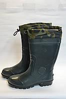 Сапоги мужские резиновые зеленые оптом Дрим Стан, фото 1