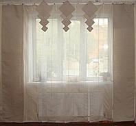Комплект панельных шторок  нануралка молочная, фото 1